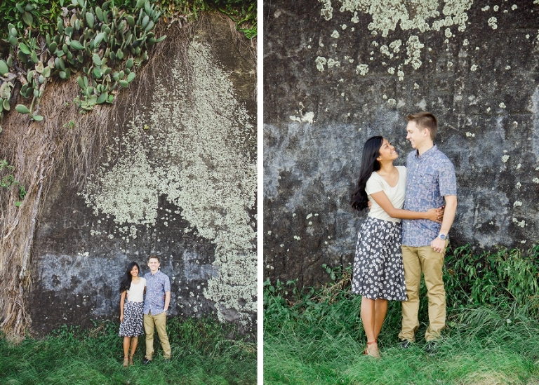 Hawaii rustic couple photography