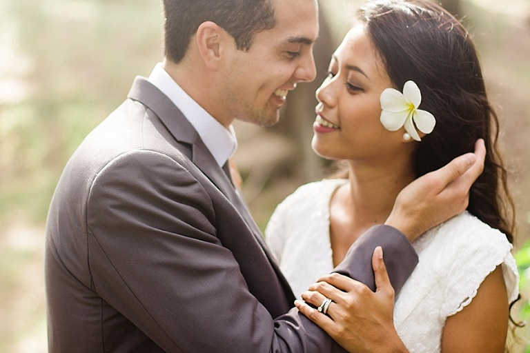 Turtle bay bride and groom photo