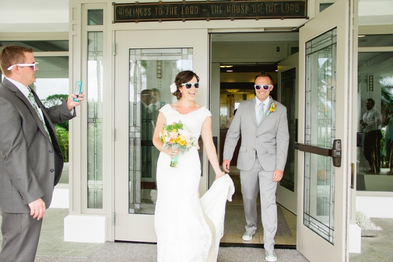 sunglass hawaii wedding