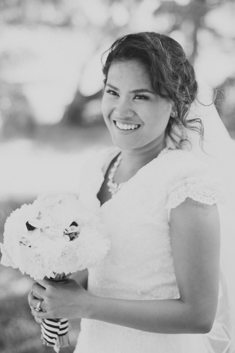 beautiful smile headshot bride