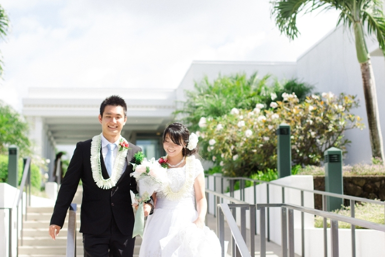 Hawaii Temple wedding