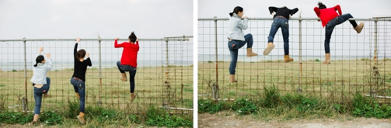climbing fence
