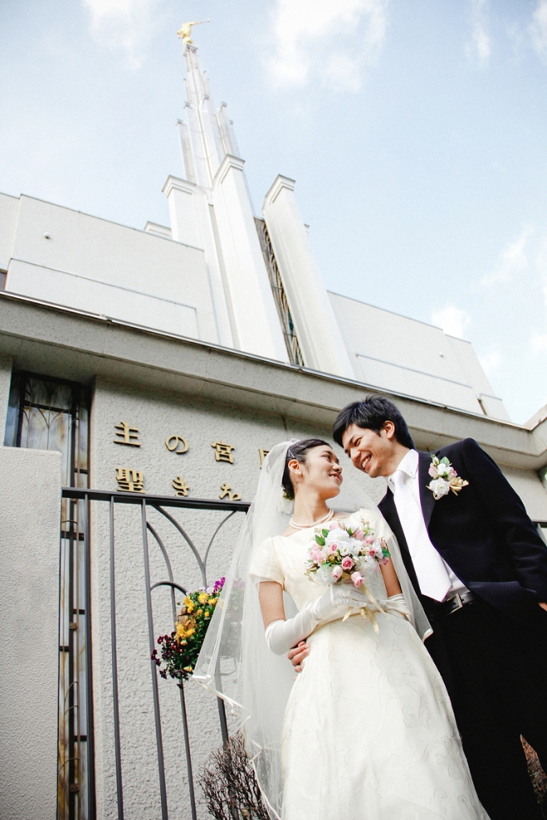 Tokyo wedding at church