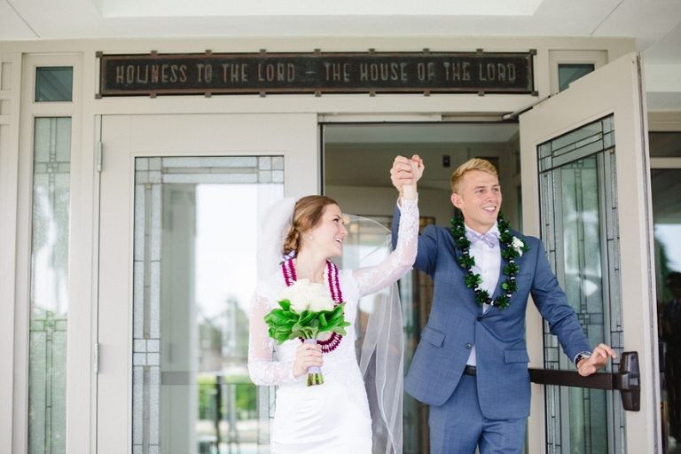Laie LDS Temple Wedding