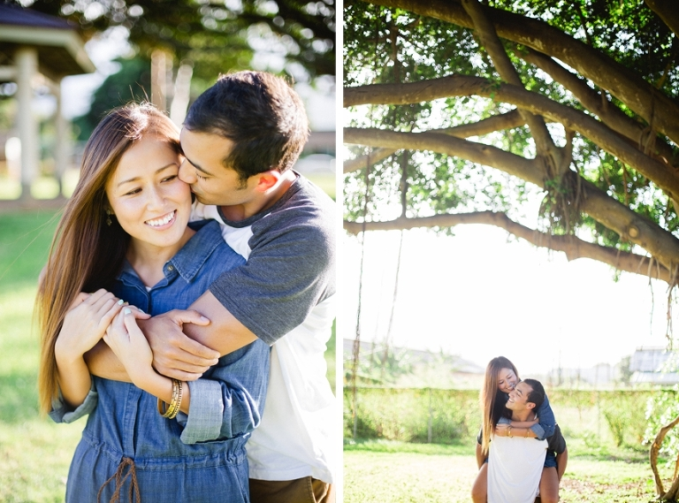 natural Light Engagement Couple