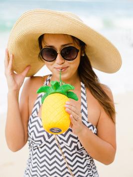 pineapple swimsuit Engagement photo