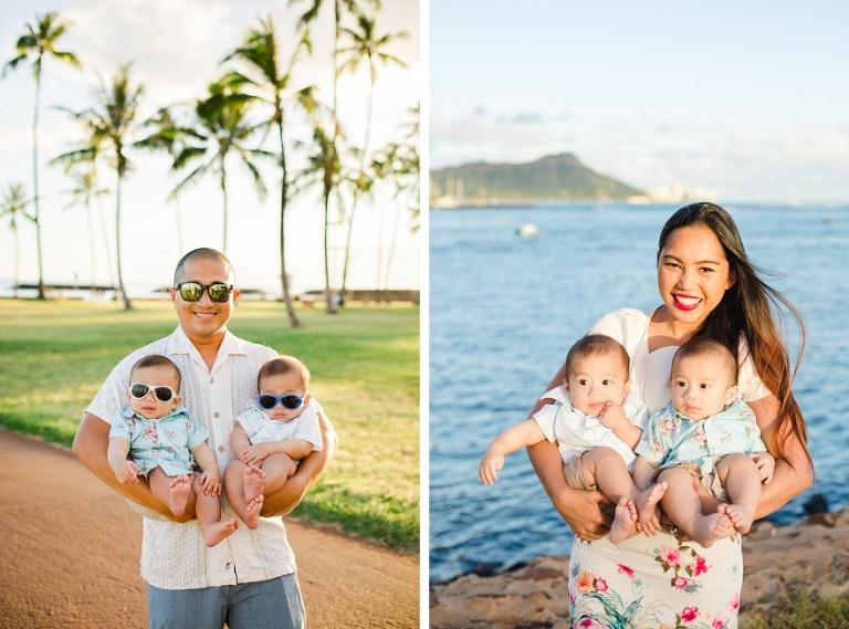 twins hawaii family photos