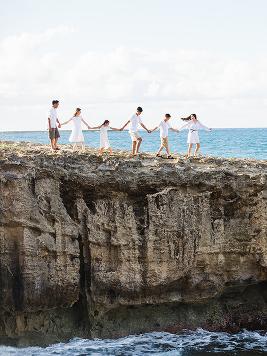 Creative family Photo in beach