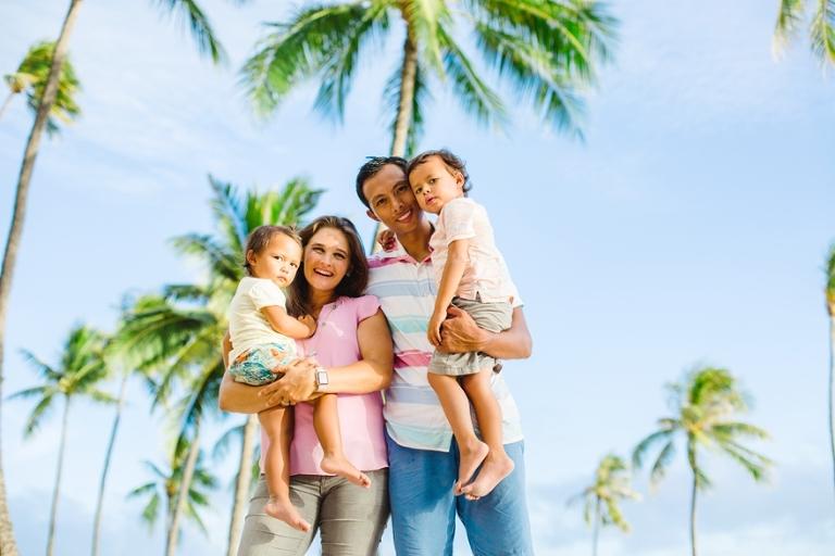 palm tress family photo