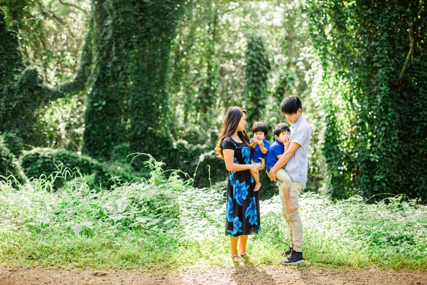 Manoa fall family photo