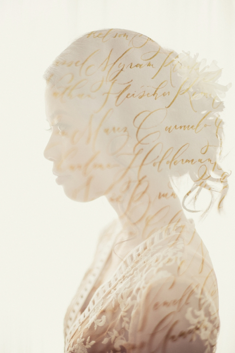 double exposure for a calligrapher